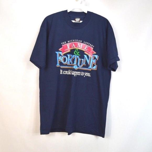 664d34c6 Screen Stars Shirts | 80s Mens Large Michigan Lottery Shirt | Poshmark